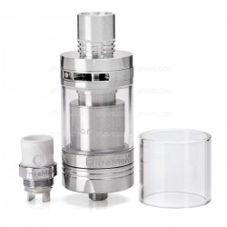 Authentic FreeMax Starre Pure Sub Ohm Tank Clearomizer - Silver, Stainless Steel, 4ml, 25mm Diameter