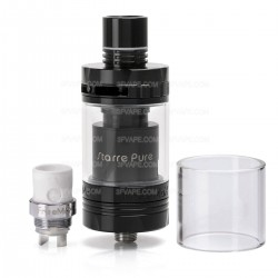 Authentic FreeMax Starre Pure Sub Ohm Tank Clearomizer - Black, Stainless Steel, 4ml, 25mm Diameter