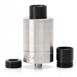RiP Trippers and Digiflavor Pharaoh Dripper Tank RDA Atomizer - Silver, Stainless Steel, 2.0mL, 25mm Diameter