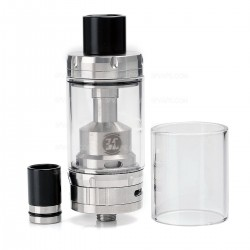 Authentic Ehpro Billow V2.5 RTA Rebuildable Tank Atomizer - Silver, Stainless Steel + Glass, 6mL, 25mm Diameter