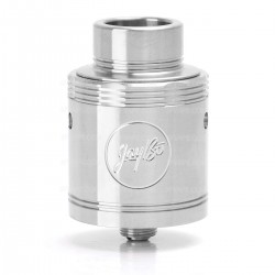 Authentic Wismec Neutron RDA Rebuildable Dripping Atomizer - Silver, Stainless Steel, 25mm Diameter