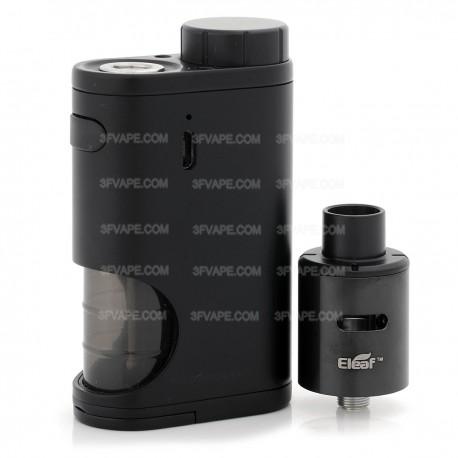 Authentic Eleaf Pico Squeeze 50W Mod Kit w/ Coral RDA Atomizer - Black, 6.5ml, 1 x 18650, 22mm Diameter