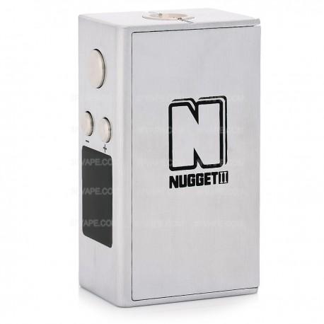 Authentic Artery Nugget V2 50W 1500mAh TC VW Variable Wattage Box Mod - Silver, Zinc Alloy, 5~50W