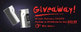 Authentic Wismec Reuleaux RX200S Giveaway - 3FVAPE
