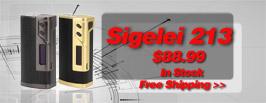 Authentic Sigelei 213W Box Mod - 3FVAPE