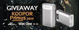 Koopor Primus 300W Giveaway - 3FVAPE