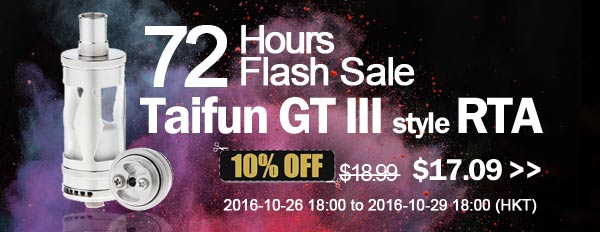 72 hours flash sale - Taifun GT III 10% OFF