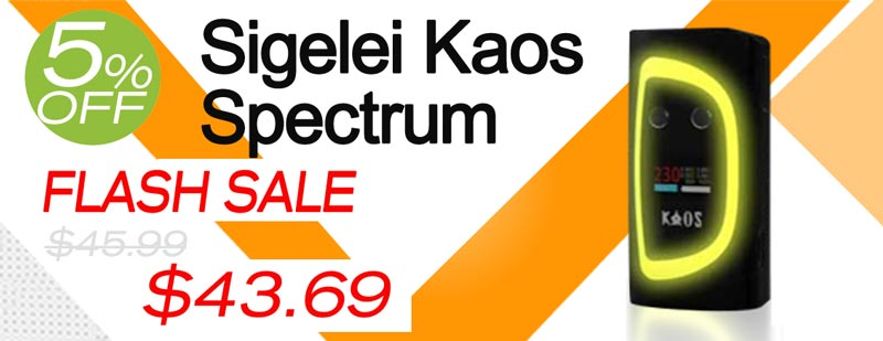 Authentic Sigelei Kaos Spectrum 230W Box Mod Flash Sale - $43.69