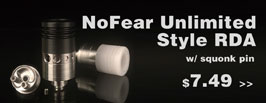 NoFear Unlimited Style RDA with BF Pin - 3FVape