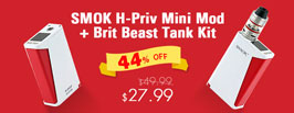 SMOK H-Priv Mini Mod + Brit Beast Tank Kit - 3FVape