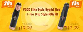 VGOD Elite Style Hybrid Mod + Pro Drip Style RDA Kit - 3FVape