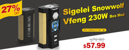 Authentic Sigelei Snowwolf Vfeng 230W Box Mod - 3FVAPE
