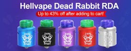 Authentic Hellvape Dead Rabbit RDA - 3FVAPE