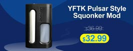 YFTK Pulsar Style Mechanical Squonker Box Mod - 3FVAPE