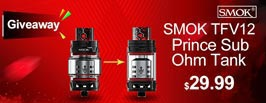 Authentic SMOKTech SMOK TFV12 Prince Sub Ohm Tank Giveaway - 3FVAPE