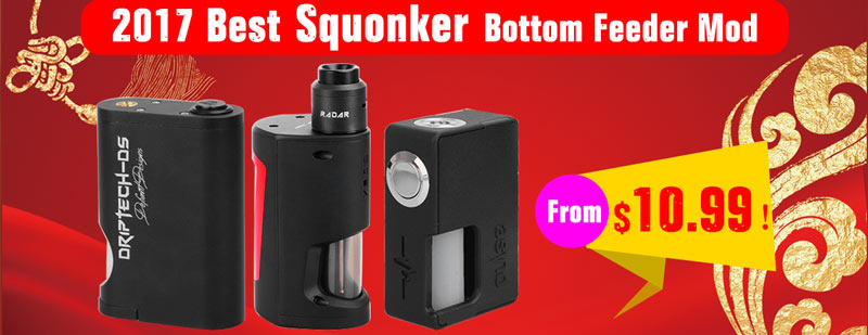 2017 Best Squonker Bottomer Feeder Mod - 3FVAPE