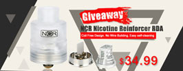 Authentic NCR Nicotine Reinforcer RDA Giveaway - 3FVAPE
