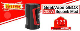 GeekVape GBOX 200W Squonk Mod Giveaway - 3FVape