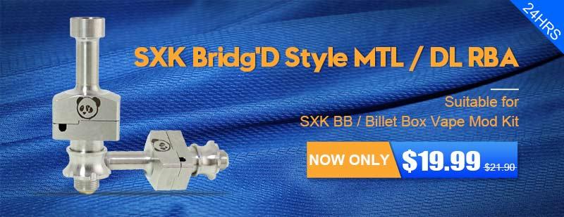 SXK Bridg D Style MTL / DL RBA - 3FVape