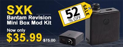 52% off only $35.99 SXK Bantam Revision Box Mod Kit