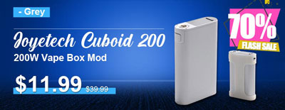 Grey Joyetech Cuboid 200 200W Vape Box Mod Flash Sale