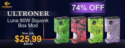 Ultroner Luna 80W Squonk Box Mod Clearance Sale