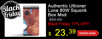 Ultroner Luna 80W Squonk Vape Box Mod Black Friday Special