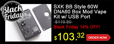 SXK BB Style 60W DNA60 Box Mod Vape Kit w/ USB Port