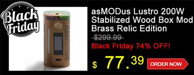 asMODus Lustro 200W Stabilized Wood Box Mod Special Sale