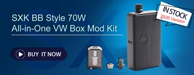 SXK BB Style 70W All in One VW Box Mod Kit