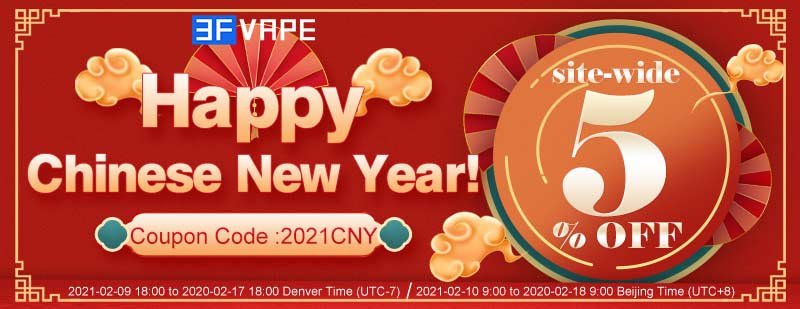 Chinese New Year 2021 Special Coupon Site-wide 5% OFF