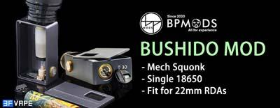 BP Mods Bushido 18650 Squonk Mod
