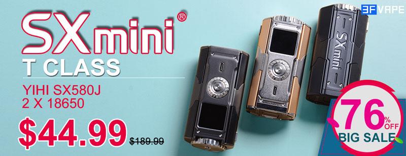 SXmini YiHi T Class 200W Box Mod 78% OFF