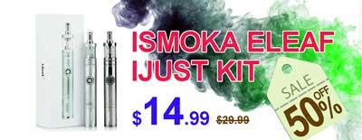 iSmoka Eleaf iJust VV Mod + BDC Atomizer Vape Kit Sale