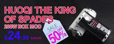 HuoQi The King of Spades 200W TC VW Vape Box Mod Sale