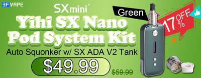 Authentic SXmini SX Nano Pod Kit Auto Squonker Kit-Green Flash Sale