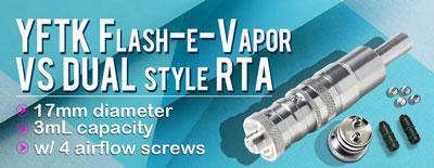 YFTK FEV Flash-e-Vapor vs dual 17mm RTA