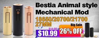 Bestia Animal 21700 Mechanical Mod 27mm Sale