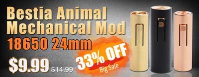 Bestia Animal Mechanical Mod 18650 24mm Sale