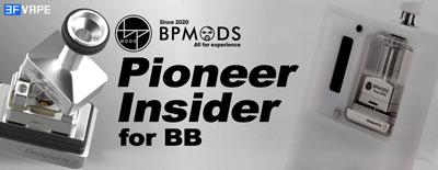 BP Mods Pioneer Insider MTL / DL RBA Tank for BB Billet Box / Sunbox Zero Naga / SXK Supbox Boro Mod