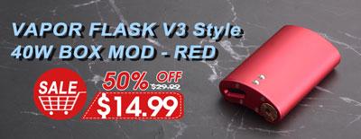 Vapor Flask V3 Style Mod Red