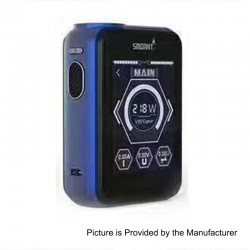 Authentic Smoant Charon TS 218 Touch Screen TC VW Variable Wattage Box Mod - Dark Blue, 1~218W, 2 x 18650