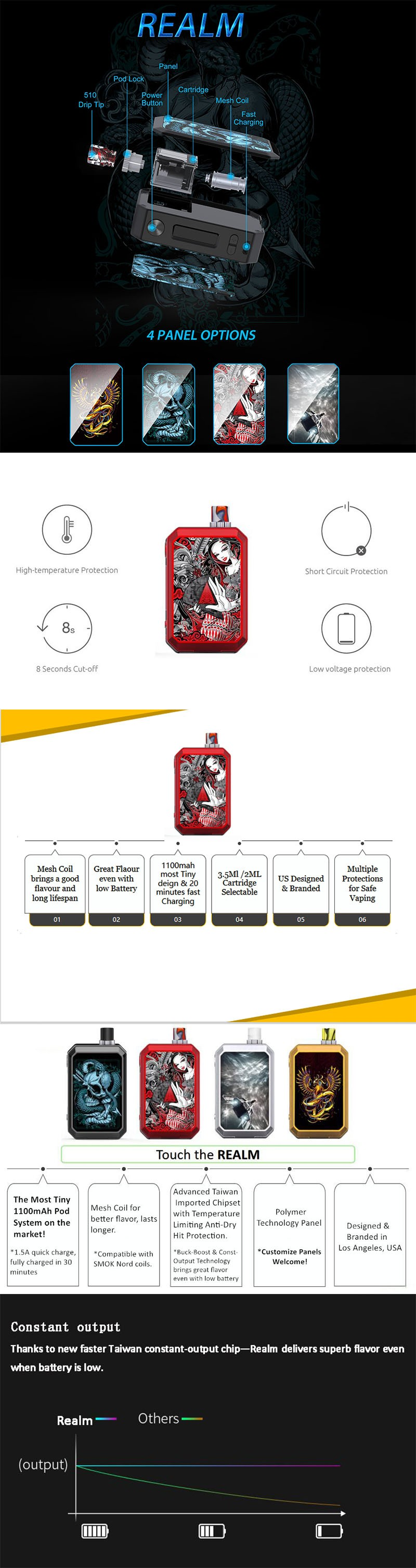 Blitz Realm 1100mAh Pod System Starter Kit