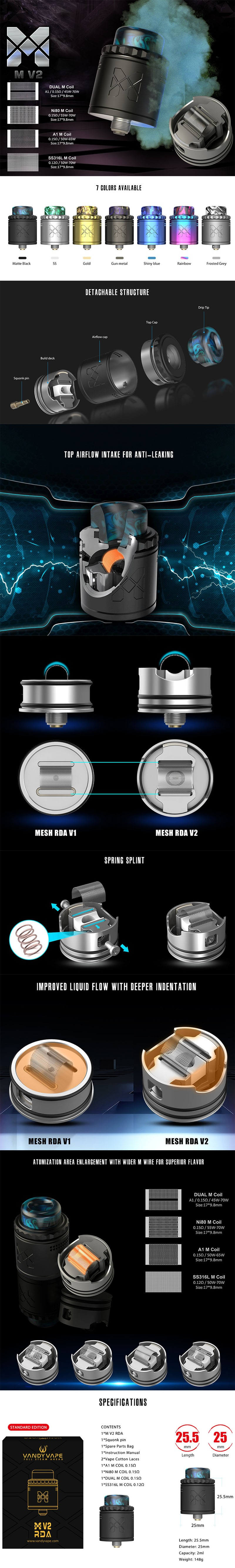 Vandy Vape Mesh V2 RDA Rebuildable Dripping Atomizer