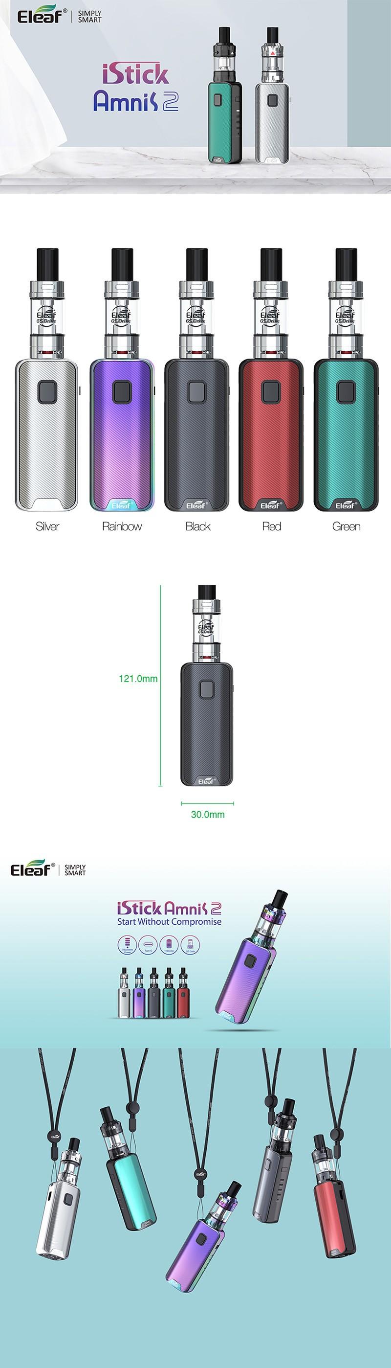 Eleaf iStick Amnis 2 1100mAh Box Mod Battery w/ GS Drive Tank Kit