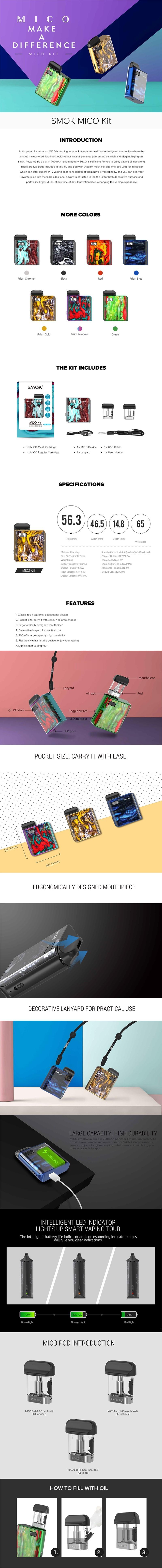 SMOKTech SMOK Mico 26W 700mAh Pod System Starter Kit