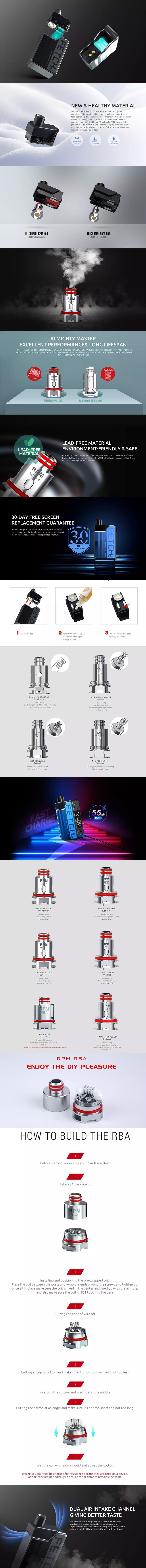 SMOKTech SMOK Fetch Mini 40W 1200mAh VW Box Mod Pod System Vape Starter Kit