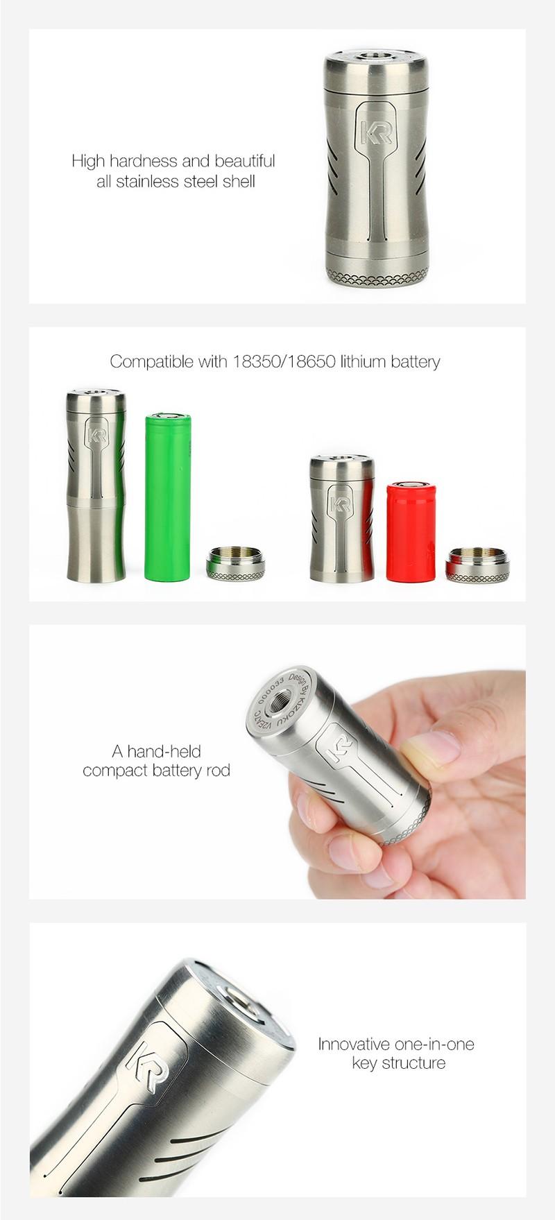 KIZOKU Kirin Semi-Mech Mechanical Tube Vape Mod