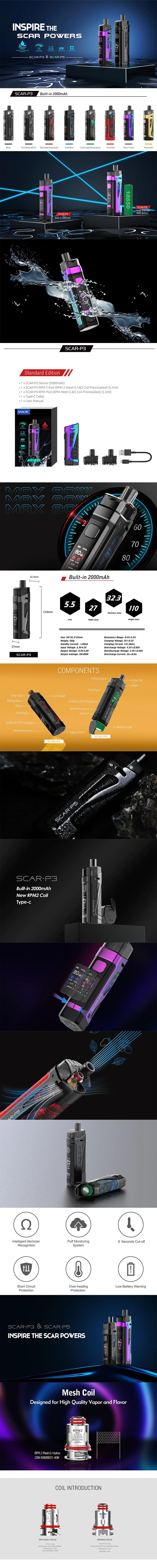 SMOK SCAR-P3 80W