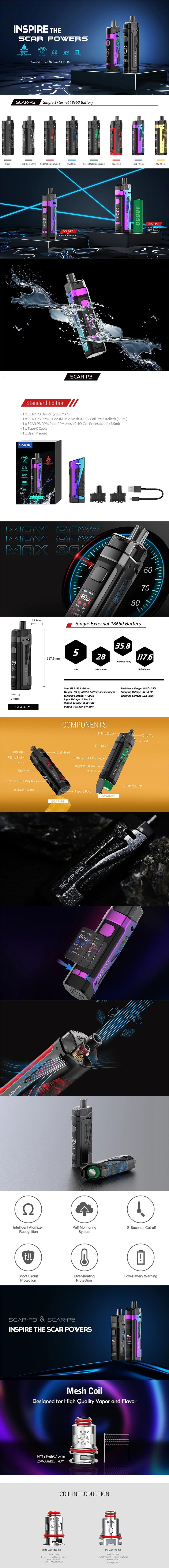 SMOK SCAR-P5 80W